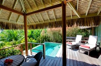 bangalô jardim com piscina Inter Moorea