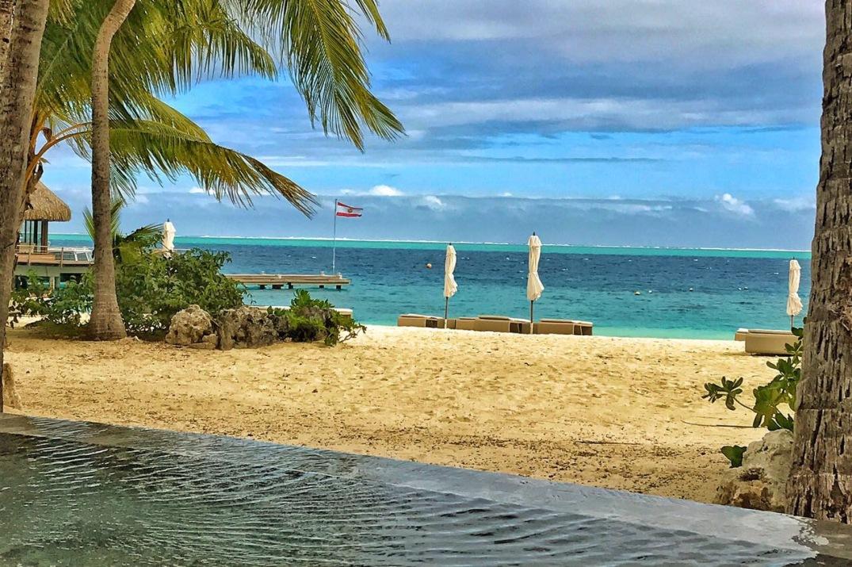 Praia do Conrad Bora Bora Nui - Vista da Piscina Conrad - Lua de Mel Bora Bora