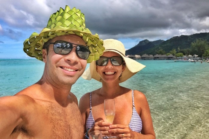 Praia do Sofitel Moorea - Lua de Mel Polinésia Francesa