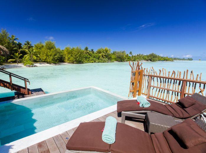 Thalasso Pool Overwater Villa - Lua de Mel Bora Bora - Viagem Polinesia Francesa - Hotel 5 estrelas Bora Bora - Bangalô sobre as águas com Piscina Particular Bora Bora