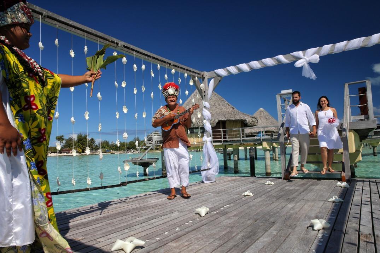 Cerimônia de Casamento Tradicional Intercontinental Bora Bora Le Moana - Lua de Mel Polinésia Francesa